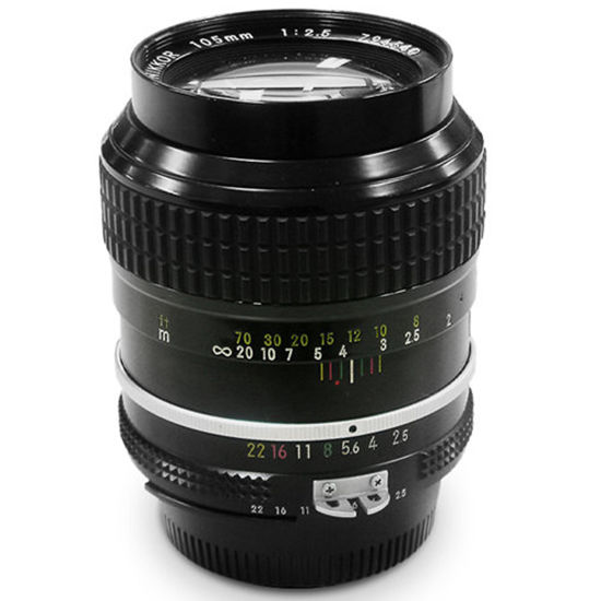 Picture of Nikon 105mm F2.5 Lens F&R/F