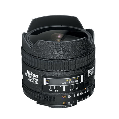 Picture of Nikon 16mm F2.8D AF Fisheye Lens