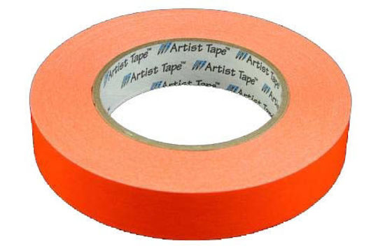 "Picture of 1"" Orange Paper tape"