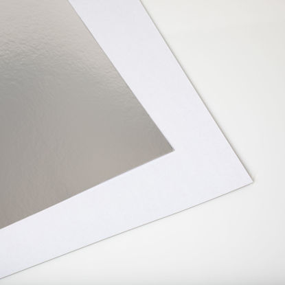 Picture of 28 X 44 Show card Shiny Silver / White