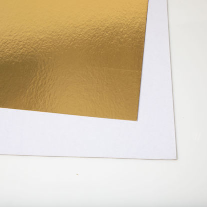 Picture of 28 X 44 Show card Shiny Gold  / White
