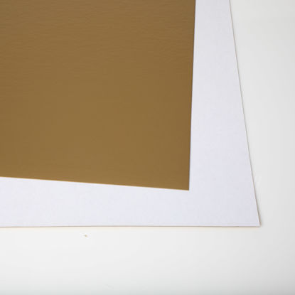 Picture of 28 X 44 Show card Matte Gold  / White