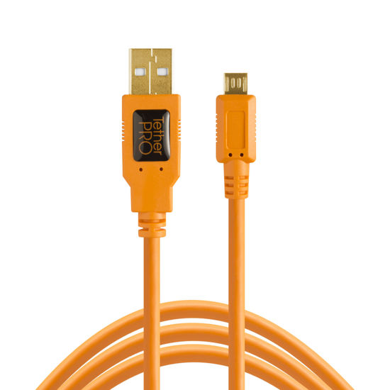 Picture of Tether Tools USB2 Cable 15' Micro-B 5 Pin