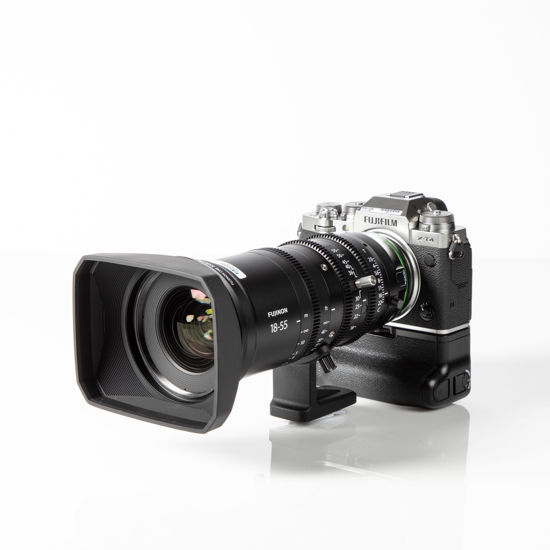 Picture of Fuji X-T4 kit with Fuji MK 18-55mm T2.9 Cine Lens
