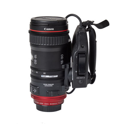 Picture of Canon CN-E 18-80mm T4.4 COMPACT-SERVO Cinema Zoom Lens (EF Mount) w/grip motor
